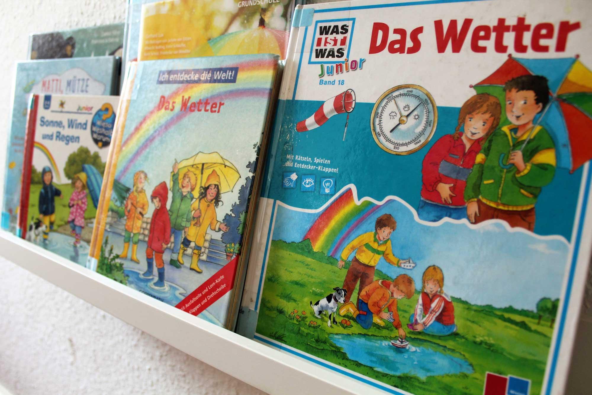 Buchsammlung zum Thema Wetter