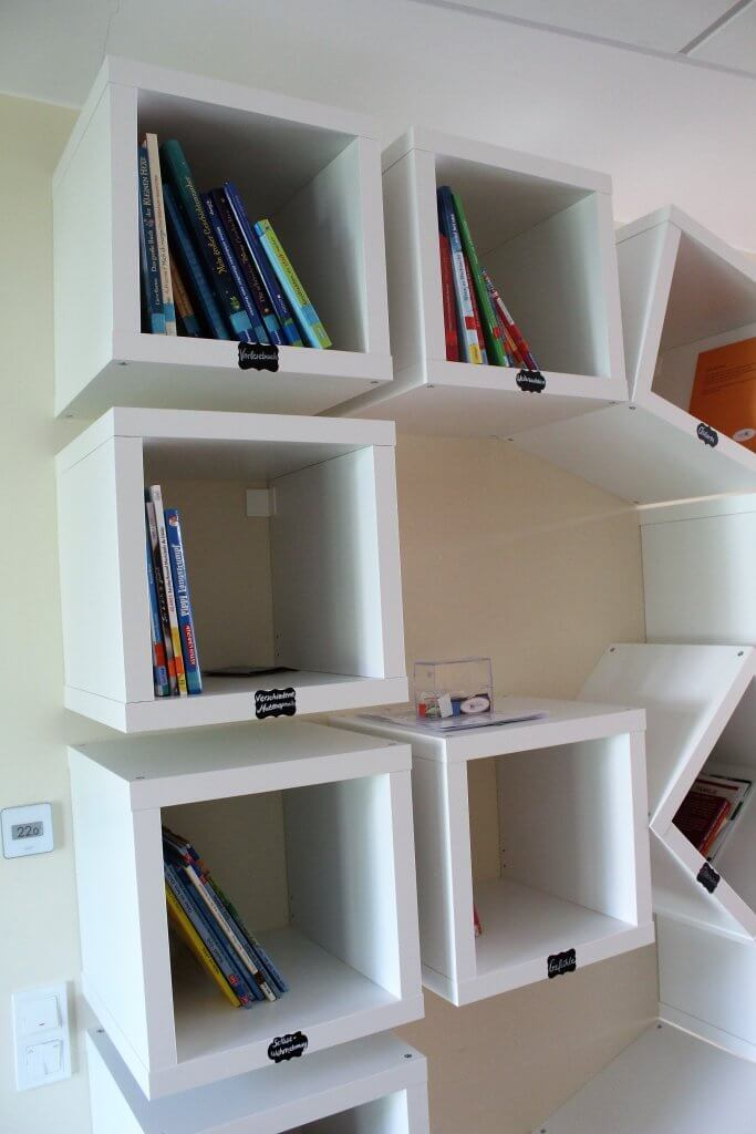 Bücherei Regale